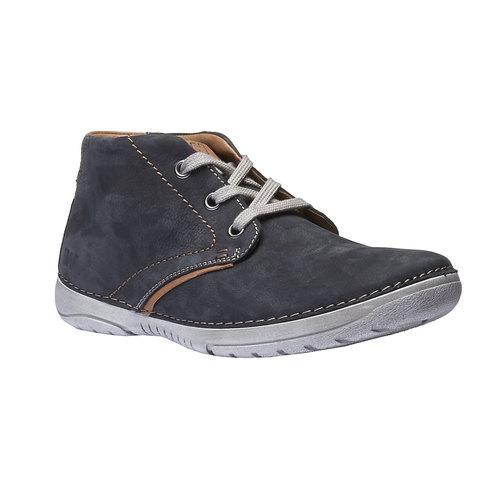 Scarpe di pelle alla caviglia weinbrenner, blu, 896-9442 - 13