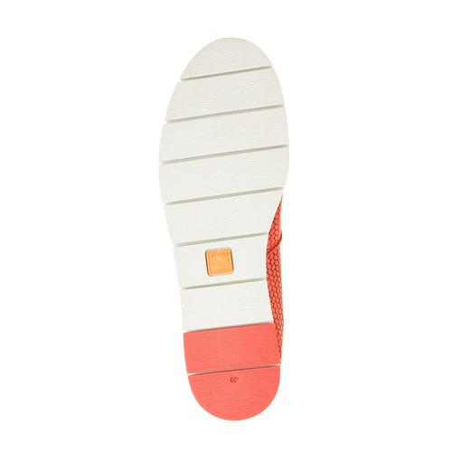 Slip-on da donna con motivo intrecciato flexible, rosso, 515-5203 - 26