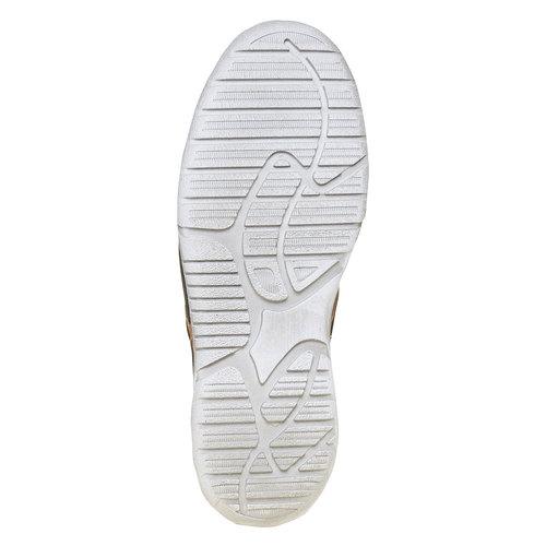 Scarpe di pelle alla caviglia weinbrenner, blu, 896-9442 - 26