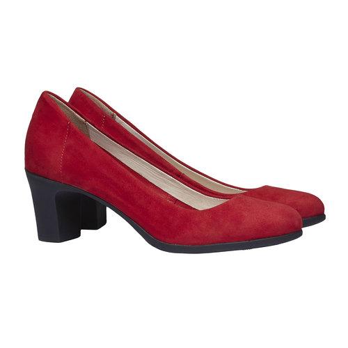 Décolleté rosse di pelle flexible, rosso, 623-5393 - 26