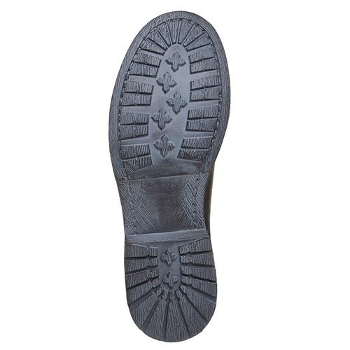 Stivaletti alla caviglia in pelle con fibbie bata, nero, 594-6102 - 26