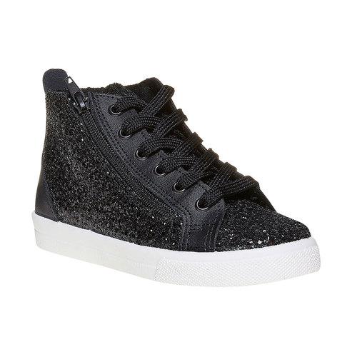 Sneakers alla caviglia con glitter north-star, nero, 329-6237 - 13
