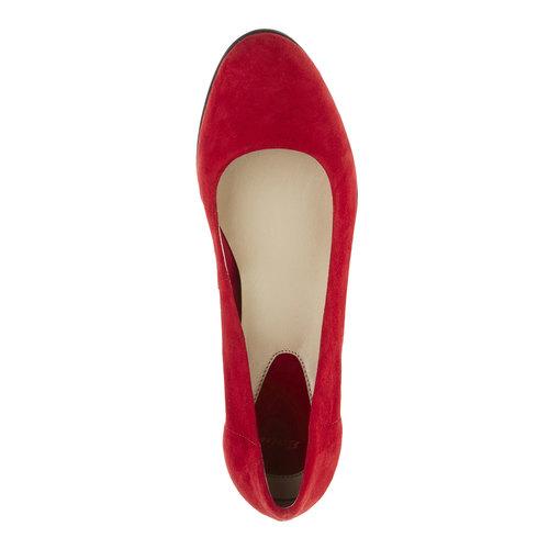 Décolleté rosse di pelle flexible, rosso, 623-5393 - 19
