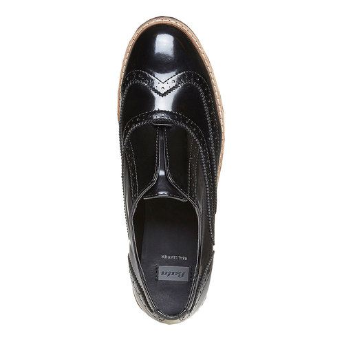 Scarpe basse da donna verniciate bata, nero, 511-6194 - 19