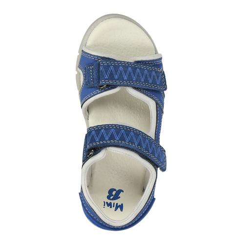 Sandali da bambino con strisce di pelle mini-b, blu, 264-9166 - 19
