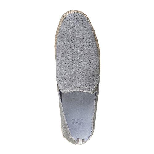 Slip-on da uomo in pelle bata, grigio, 853-2216 - 19