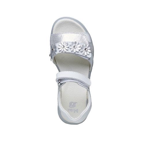 Sandali in pelle bianca mini-b, bianco, 264-1163 - 19