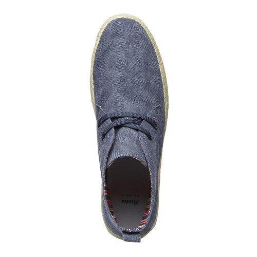 Scarpe da uomo in stile Desert Boots bata, blu, 899-9669 - 19