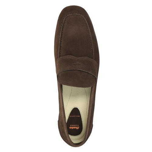 Mocassini da uomo in pelle flexible, marrone, 853-4186 - 19