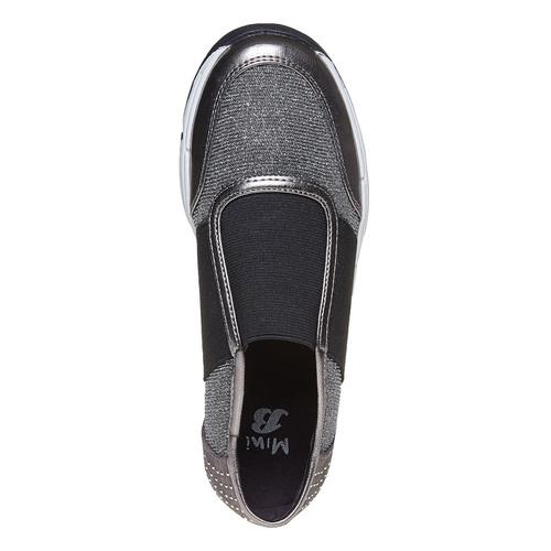 Slip-on da bambina con borchie mini-b, grigio, 329-2218 - 19