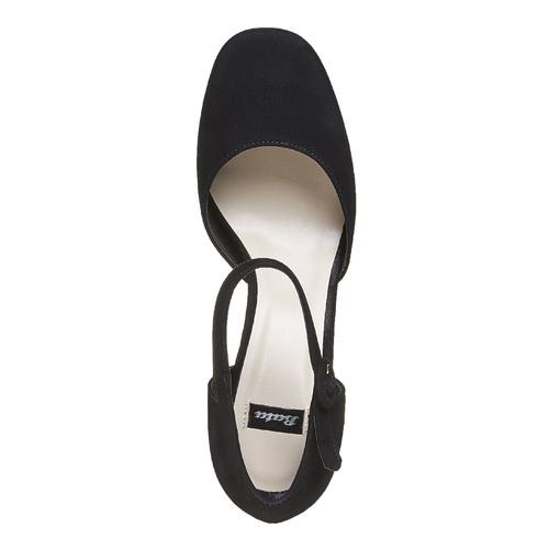 Sandali in pelle con punta chiusa bata, nero, 723-6372 - 19