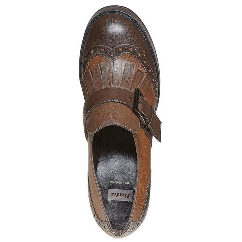 Kiltie Oxford con tacco alto bata, marrone, 721-4191 - 19