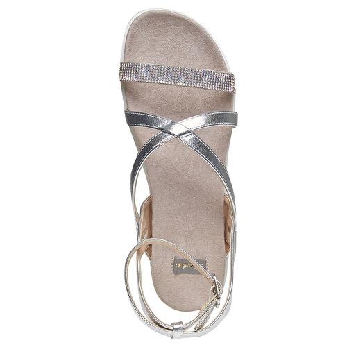 Sandali con suola appariscente bata, bianco, 561-1346 - 19