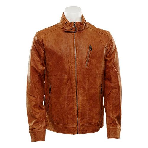 Giacca da uomo in pelle bata, marrone, 973-3108 - 13
