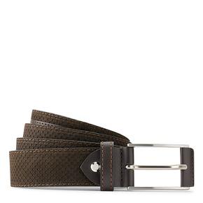 Cintura in suede traforata bata, marrone, 953-4325 - 13