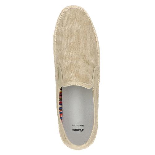 Slip-on da uomo bata, beige, 839-8116 - 19
