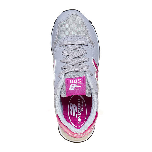 Sneakers grigie da donna new-balance, grigio, 501-2500 - 19