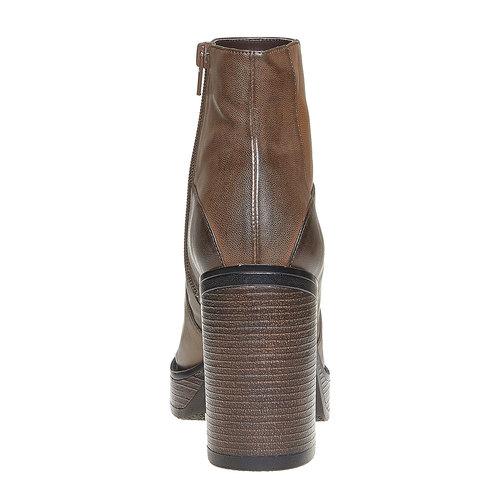 Stivaletti da donna alla moda bata, marrone, 791-4301 - 17