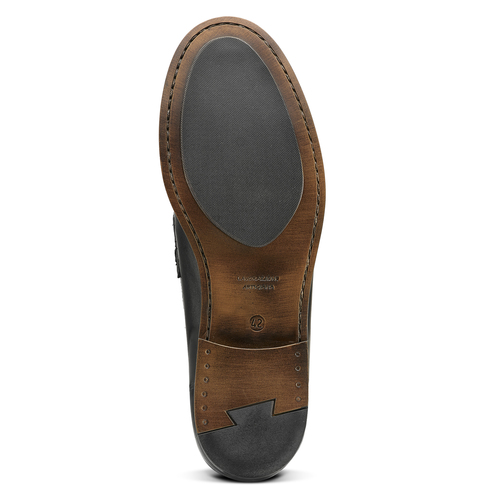 Penny loafer in pelle bata, nero, 814-6128 - 17