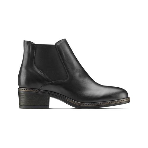 Chelsea Boots con tacco bata, nero, 694-6382 - 26