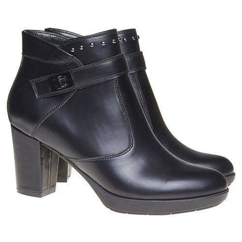 Scarpe da donna alla caviglia bata, nero, 791-6443 - 26