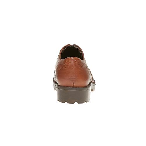 Scarpe basse da donna in stile Oxford bata, marrone, 524-3135 - 17