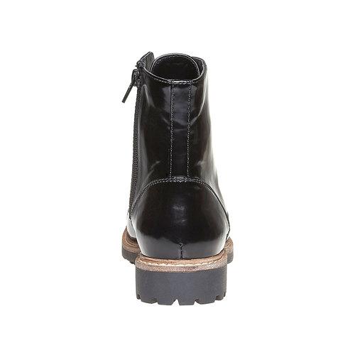 Scarpe verniciate sopra la caviglia bata, nero, 591-6509 - 17