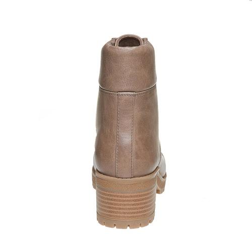 Stivaletti da donna caviglia con lacci bata, marrone, 691-3259 - 17
