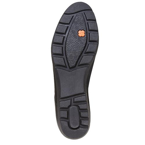 Scarpe in pelle donna con plateau sundrops, nero, 524-6354 - 26