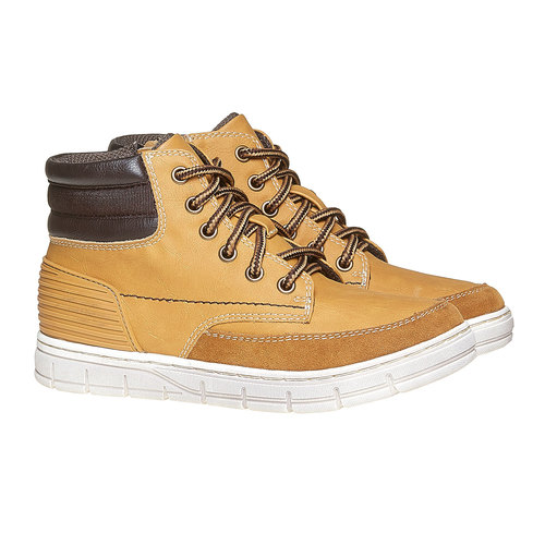 Scarpe da bambino alla caviglia mini-b, giallo, 391-8257 - 26