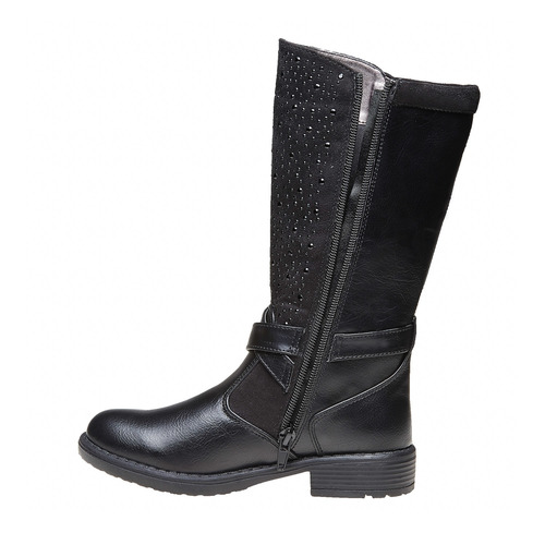 Stivali da ragazza con strass mini-b, nero, 291-6166 - 19