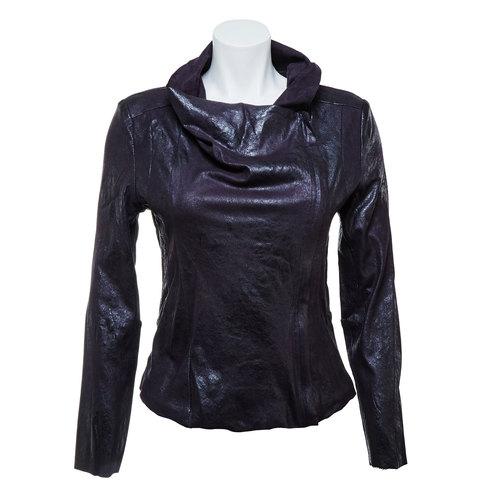 Giacca casual da donna con colletto bata, nero, 979-6635 - 13