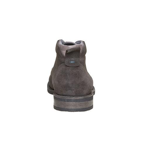 Scarpe da uomo in pelle in stile Chukka bata, grigio, 823-2533 - 17