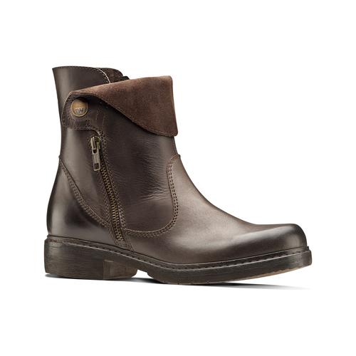 Scarpe di pelle alla caviglia weinbrenner, marrone, 594-4874 - 13