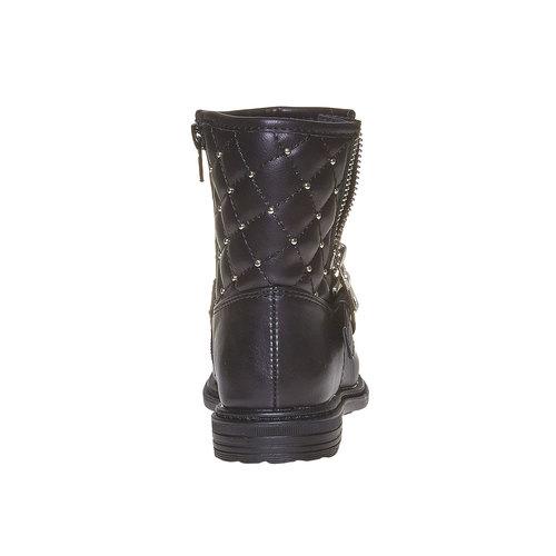 Scarpe da ragazza alla caviglia mini-b, nero, 291-6157 - 17