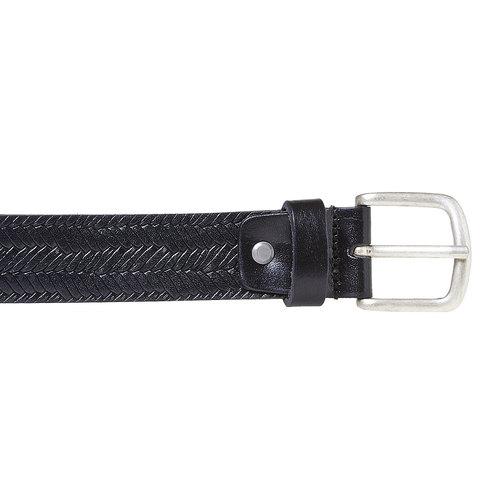 Cintura da uomo strutturata bata, nero, 954-6158 - 26