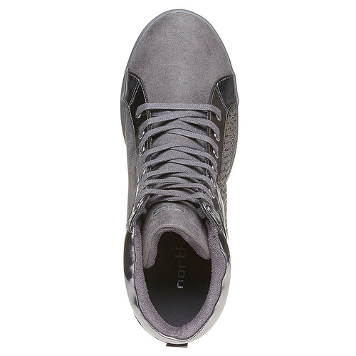 Sneakers alla moda da donna north-star, grigio, 729-2360 - 19