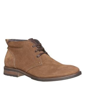 Scarpe da uomo in pelle Chukka bata, marrone, 823-4533 - 13