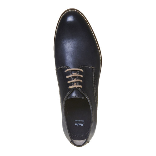 Scarpe basse di pelle in stile Derby bata, viola, 824-9745 - 19