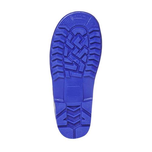 Stivali di gomma da bambina con stampa, blu, 392-9267 - 26