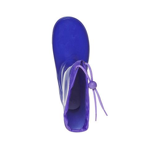 Stivali di gomma da bambina con stampa, blu, 392-9267 - 19
