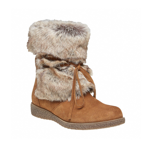 Stivali invernali da donna bata, marrone, 593-3992 - 13