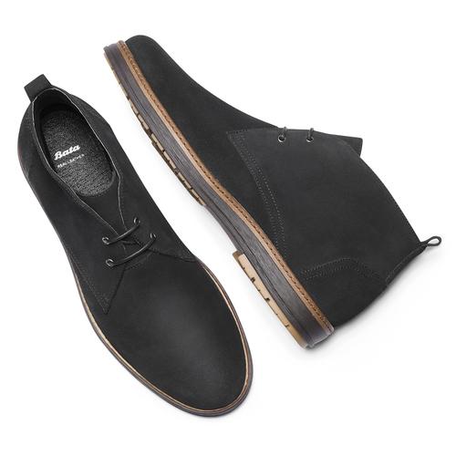 Desert Boots da uomo in pelle bata, viola, 823-9535 - 19