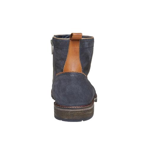 Scarpe da uomo alla caviglia bata, blu, 893-9357 - 17