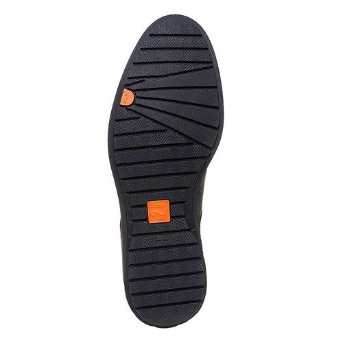 Scarpe basse informali da uomo flexible, nero, 824-6525 - 26