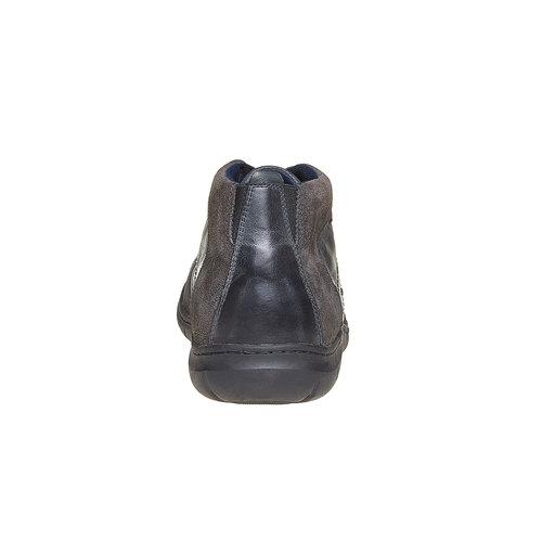 Scarpe di pelle alla caviglia bata, nero, 844-6502 - 17