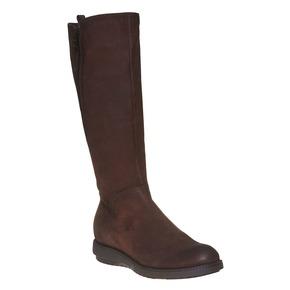 Stivali in pelle da donna flexible, marrone, 594-4651 - 13