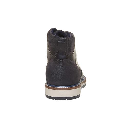 Scarpe di pelle alla caviglia bata, nero, 894-6271 - 17