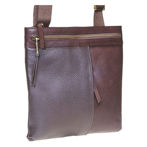 Borsa messenger da uomo in pelle bata, marrone, 964-4137 - 13