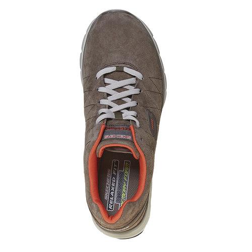 Sneakers da uomo in pelle skechers, marrone, 803-4351 - 19